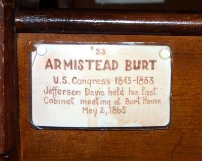 Trinity Episcopal Church Member Plaque #23 -<br>Armistead Burt image. Click for full size.