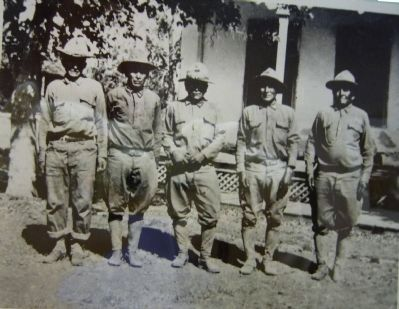 Indian Scouts in front of Adjutant's Office image. Click for full size.