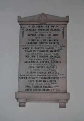 Haskell Family Plaque image. Click for full size.