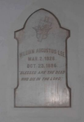 William Augustus Lee Plaque image. Click for full size.