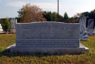 Ellison Family Monument -<br>West Side image. Click for full size.