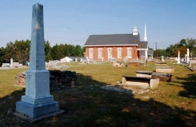 Moses Holland Monument and Big Creek Baptist Church image. Click for full size.