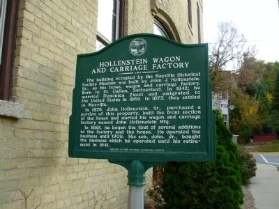 Hollenstein Wagon and Carriage Factory Marker image. Click for full size.