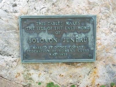Plaque Located In Front of Juneau House image. Click for full size.