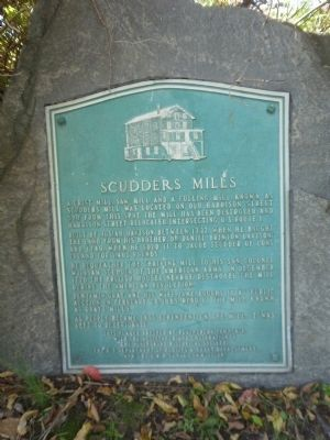 Scudders Mills Marker image. Click for full size.