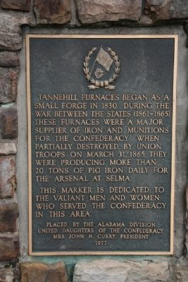 Tannehill Furnaces Marker Side A image. Click for full size.