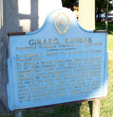 Girard, Kansas Marker image. Click for full size.