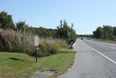 Cedar Creek Hundred Marker, looking south along State Route 1 image. Click for full size.