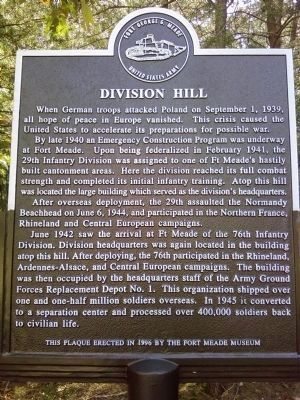 Division Hill Marker image. Click for full size.