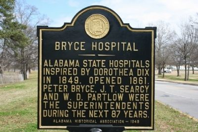 Bryce Hospital Marker image. Click for full size.