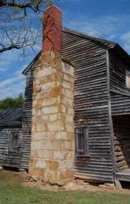 Obediah Shirley House -<br>South Chimney image. Click for full size.