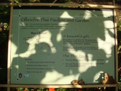 Olbrich's Thai Pavilion and Gardens Marker image. Click for full size.