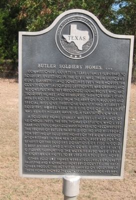 Butler Soldiers' Homes, C.S.A. Marker image. Click for full size.