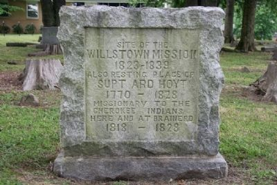 Site of the Willstown Mission Marker image. Click for full size.