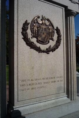 Havre de Grace War Memorial, south face image. Click for full size.