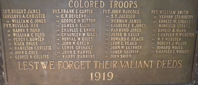 "Havre De Grace War Memorial - focus on the community's ""Colored Troops"" image. Click for full size."