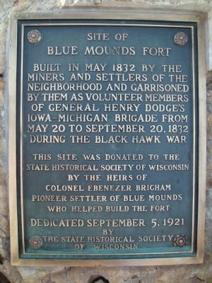 Site of Blue Mounds Fort Marker image. Click for full size.