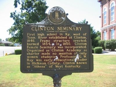 Clinton Seminary Marker image. Click for full size.