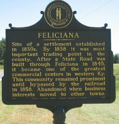 Feliciana Marker image. Click for full size.