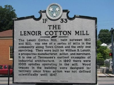The Lenoir Cotton Mill Marker image. Click for full size.