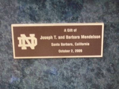 Dedication plaque on side of marker image. Click for full size.