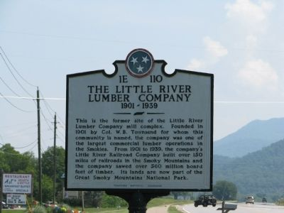 The Little River Lumber Company Marker image. Click for full size.