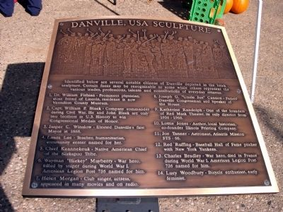 """Danville, USA Sclpture"" - Plaque image. Click for full size."