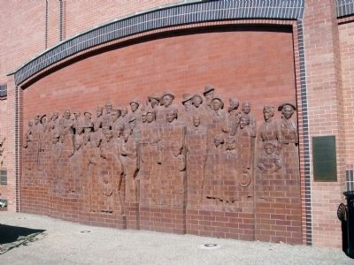 "Brick Sculpture & ""Sculptor's Reflections"" - Plaque image. Click for full size."