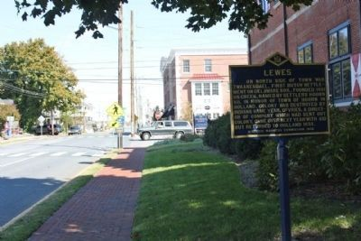 Lewes Marker, looking north towards 3rd Street image. Click for full size.