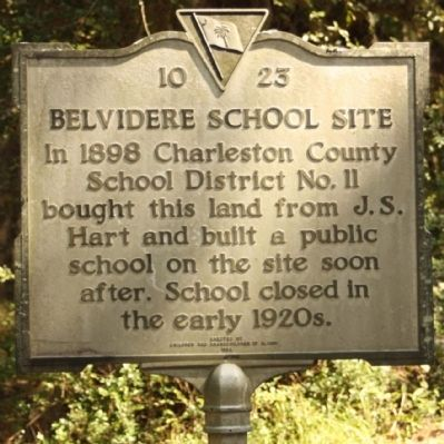 Belvidere School Site Marker image. Click for full size.