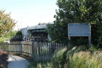 Lewes-Rehoboth Canal Marker, near Savannah Road Bridge image. Click for full size.