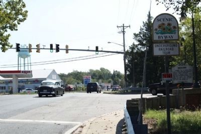 Greensboro Marker, seen at intersection MD 314 and southbound MD 313 image. Click for full size.