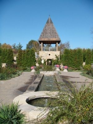 Rose Garden Fountain and Tower at Olbrich Gardens image. Click for full size.
