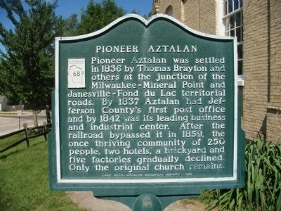 Pioneer Aztalan Marker image. Click for full size.
