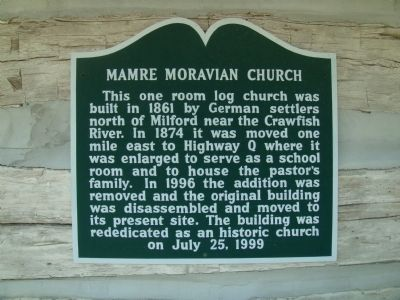 Mamre Moravian Church Marker image. Click for full size.