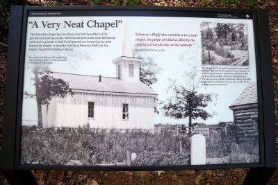 """A Very Neat Chapel"" Marker image. Click for full size."