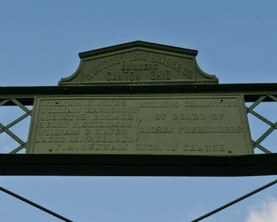 Nevius Street Bridge Dedication Plaque image. Click for full size.