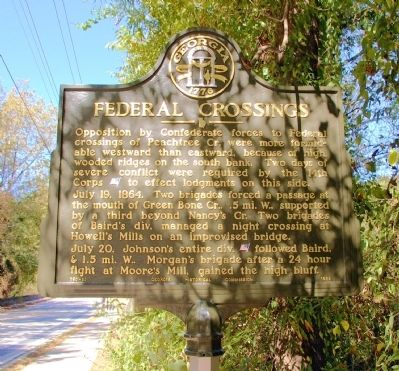 Federal Crossings Marker image. Click for full size.