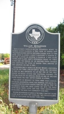 William Richardson Marker image. Click for full size.