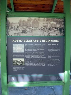 Mount Pleasant's Beginnings - Panel 7 image. Click for full size.