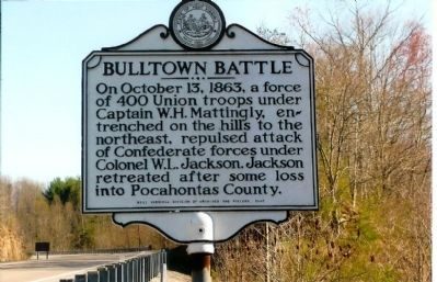 Bulltown Battle Marker image. Click for full size.