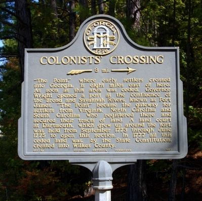 Colonists' Crossing Marker image. Click for full size.