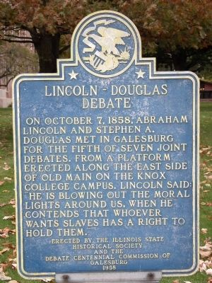 Lincoln-Douglas Debate Marker image. Click for full size.