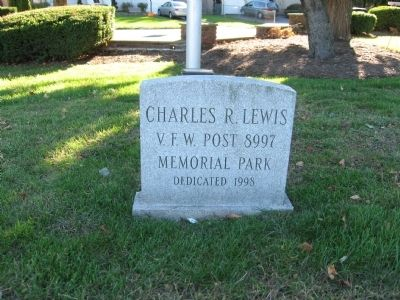 Charles R. Lewis V.F.W. Post Memorial Park image. Click for full size.