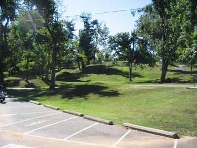 Earthworks and Picnic Tables in the Park Today image. Click for full size.