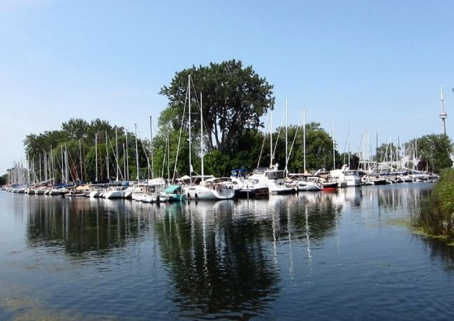 The Royal Canadian Yacht Club - partial view of the marina from the marker image. Click for full size.