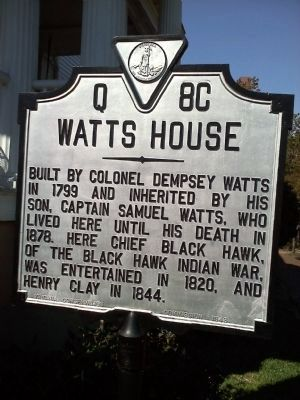 Watts House Marker image. Click for full size.