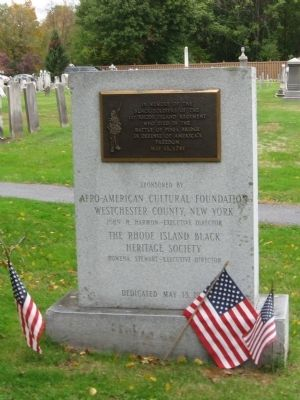 Black Soldiers of the 1st Rhode Island Regiment Marker image. Click for full size.
