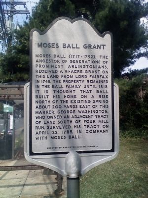 Moses Ball Grant Marker image. Click for full size.
