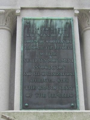 Bronze Plaque on North Side image. Click for full size.